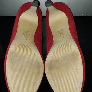 Franco Sarto Shoes - Franco Sarto red/burgundy suede heels